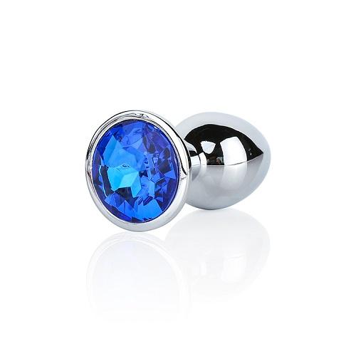 Analplugg med Mörk Blå Diamant