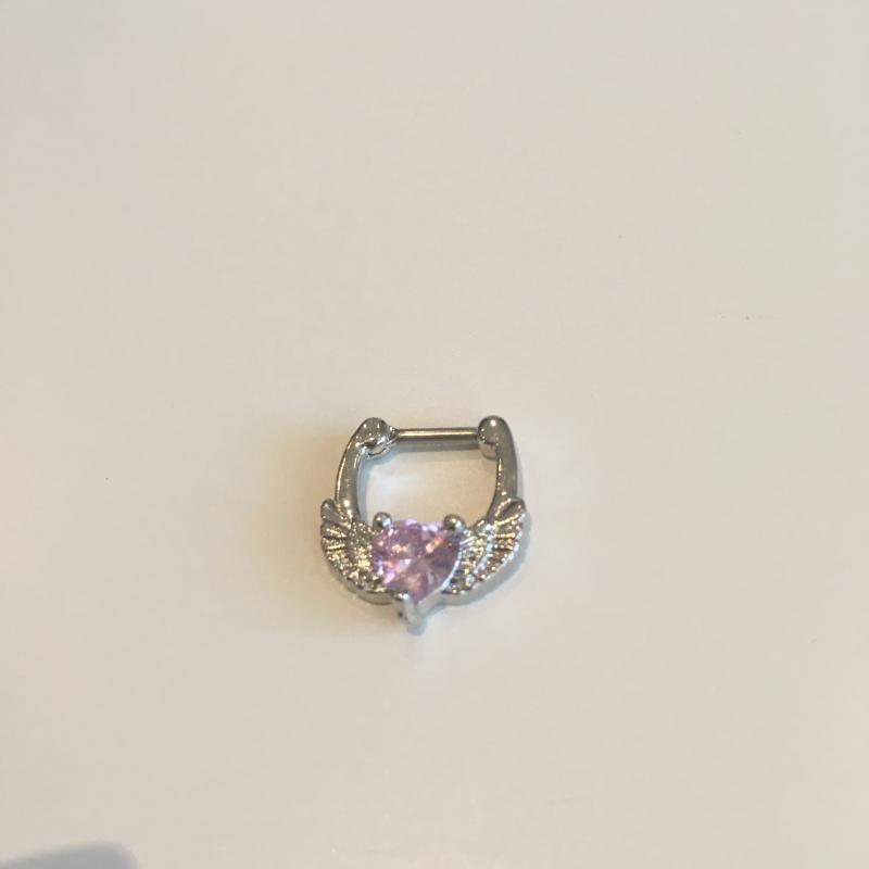 Nipple Clicker med rosa hjärta