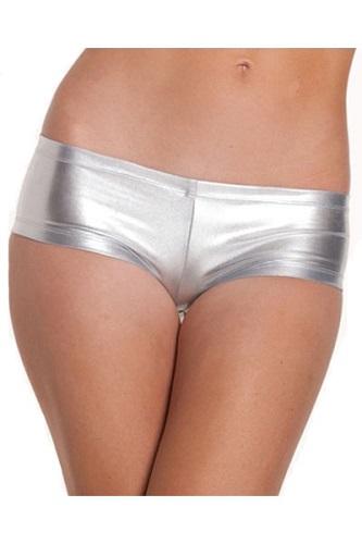 Silverfärgad trosa  wet-look material