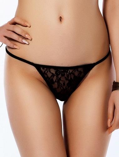 Romantisk söt svart spetstrosa XL