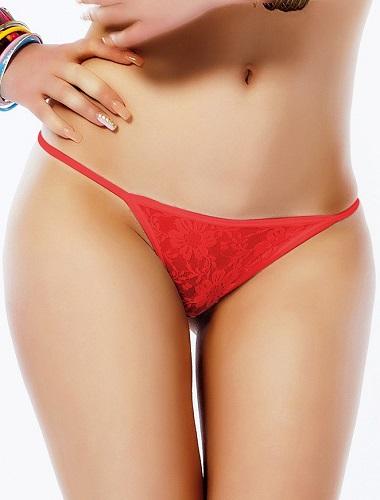 Romantisk söt  Röd spetstrosa 2XL