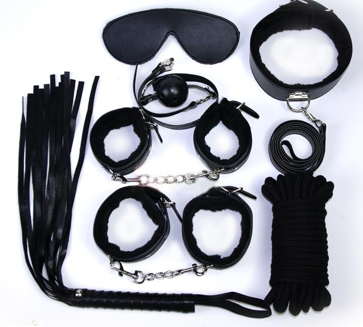 BDSM -set svart