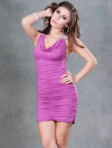 Sexig Klänning med strass detaljer XL