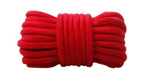 Flätad Röd Bondage Rep