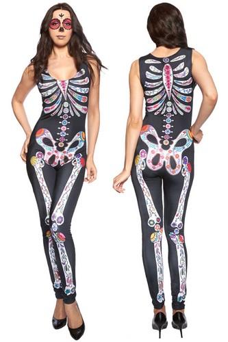 Skelett Overall