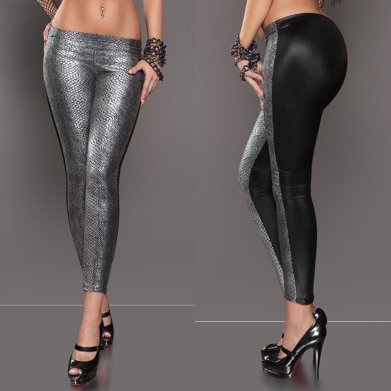 Leggings Ormskinn Silver L-XL