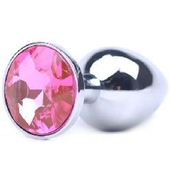 Analplugg M med Rosa juvel