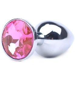Liten Analplugg med Rosa juvel