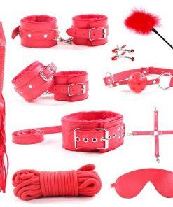 Bdsm-set 10 delar röd