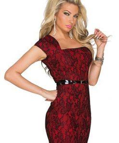 Sexig röd miniklänning