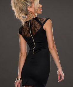 Romantisk svart spetsklänning I vintage modell XL