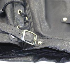 Lyxig läderluva med gagboll