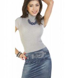 Sexig minikjol med jeanstryck