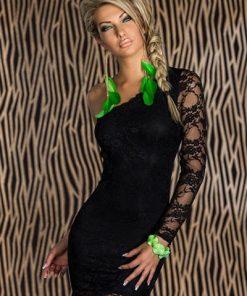 Sexiga svart spetsklänning XL