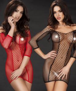 Sexig nätklänning/nätbody