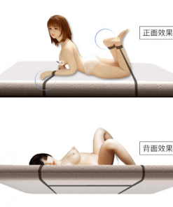Bondage set för sänglekar Sammetslena