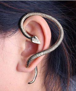 Slingrande orm Örhänge