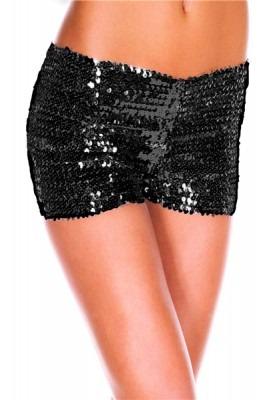 Svarta paljett shorts