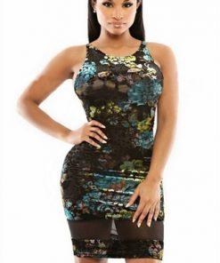 Modern figurnära Skimrande klänning